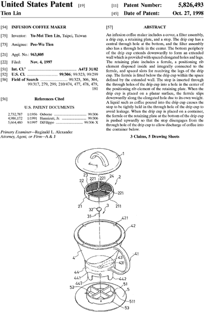 ingenuiTEA US patent