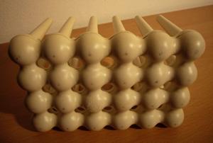 Helit 63526 letter rack, white
