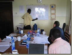Meeting room in ACET's Kampala office