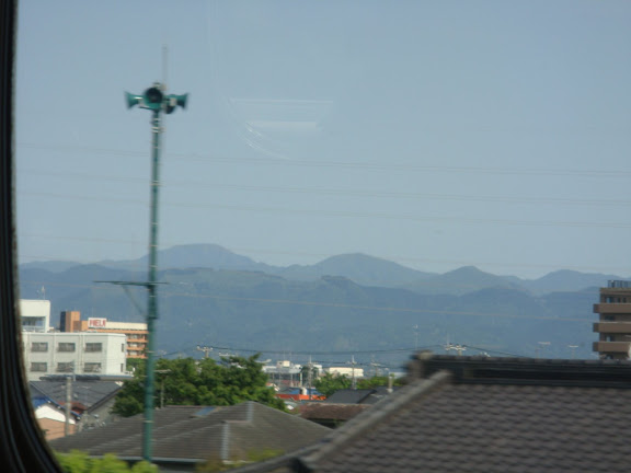 Going so fast my ears popped... didn&#39;t get a good view of Mt. Fuji though, sadly!