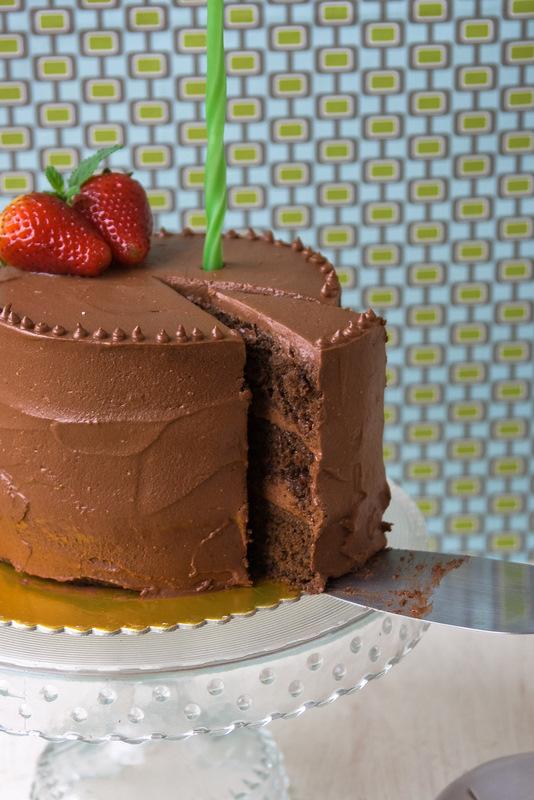 Mini torta de chocolate para Juan
