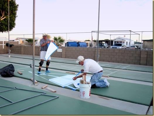 2009-10-12 - AZ, Yuma - Cactus Gardens - Preparing Shuffleboard Courts