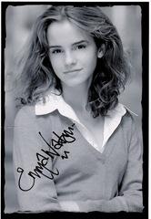 emma watson signed photo