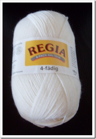 2011_03 Sockenwolle Regia in Weiß