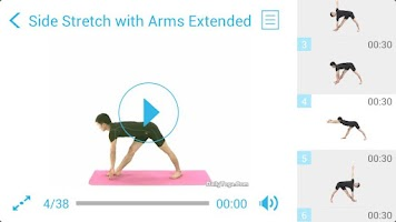 Screenshot of Standing Yoga Routine