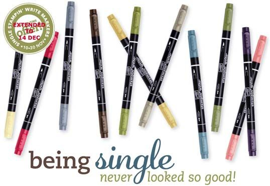 Single Stampin' Write Markers Promotion
