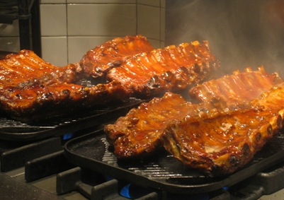 Smoked Pork Ribs with Chili Glaze