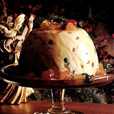 Iced Christmas Pudding with Glace Fruits