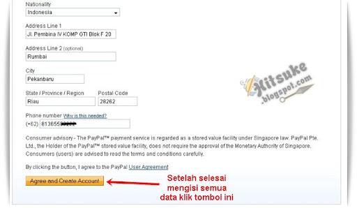 Cara mendaftar di PayPal