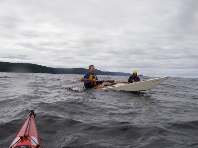 Doug Van Doren with Bloody Nose post SOF rescue on Lake Superior
