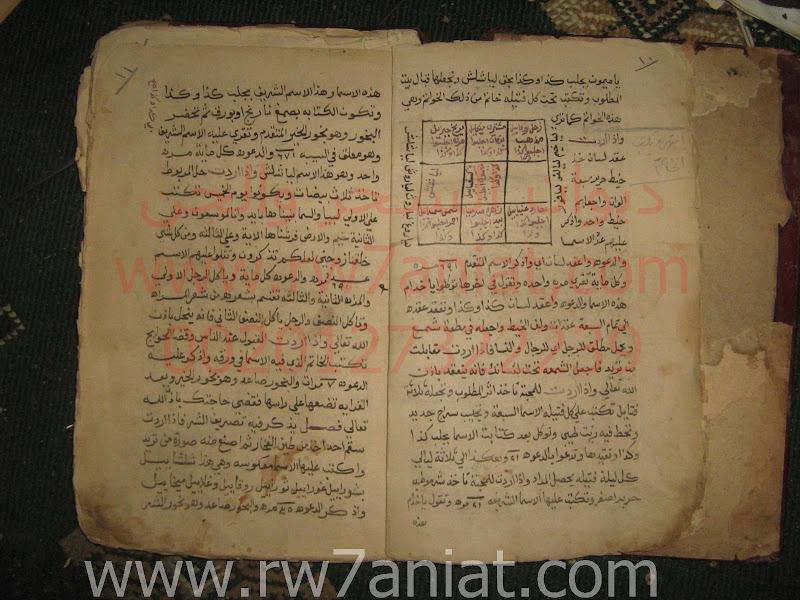 مخطوط شامل (12من الاسماء المخزونه لسيدنا سليمان بخواتمها وما تفعل بهم IMG_0477