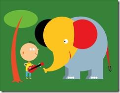 elephant & boy