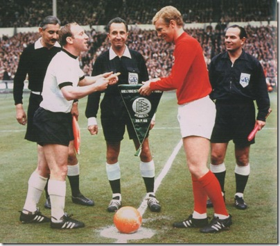 1966 World Cup Final with UweSeeler and Bobby Moore