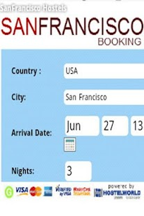 Sanfrancisco Hostel Booking - screenshot