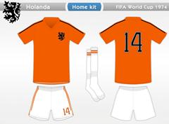 Holanda 1974 H (short branco)