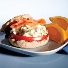 Egg and Salmon Sandwich