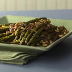 Roasted Asparagus with Pine Nuts