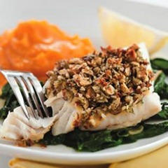 Almond & Lemon Crusted fish
