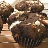 Double Choc Marshmallow Rocky Rd. Muffins
