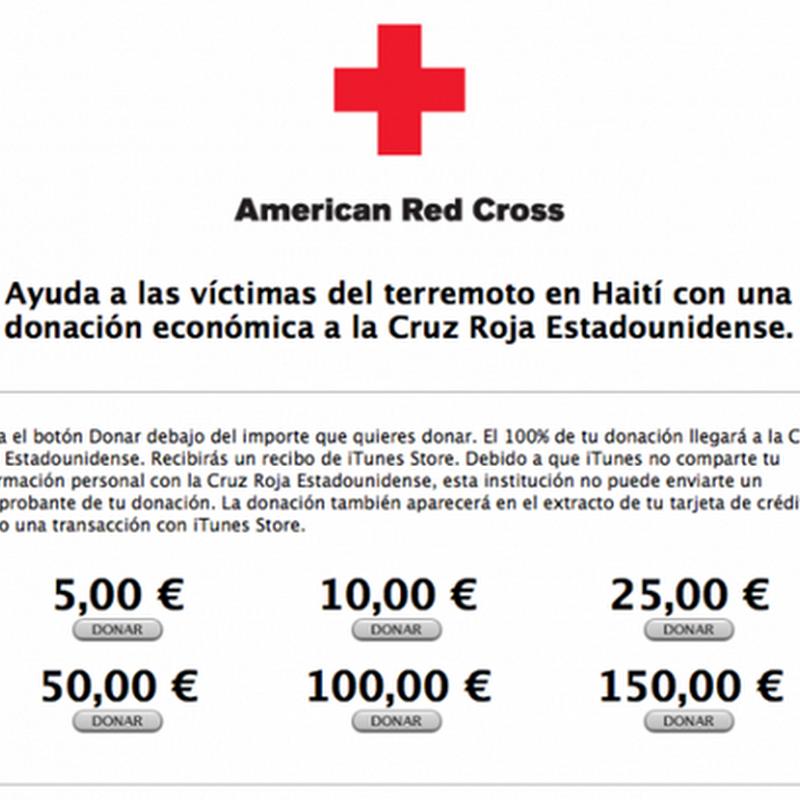 Dona ayuda para Haití con iTunes