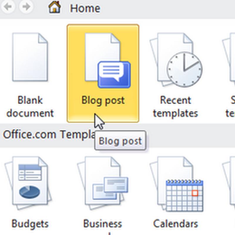 Publicar posts en Word 2007 y 2010