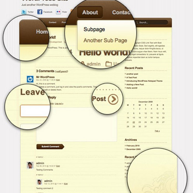 Notepad, un tema para Wordpress