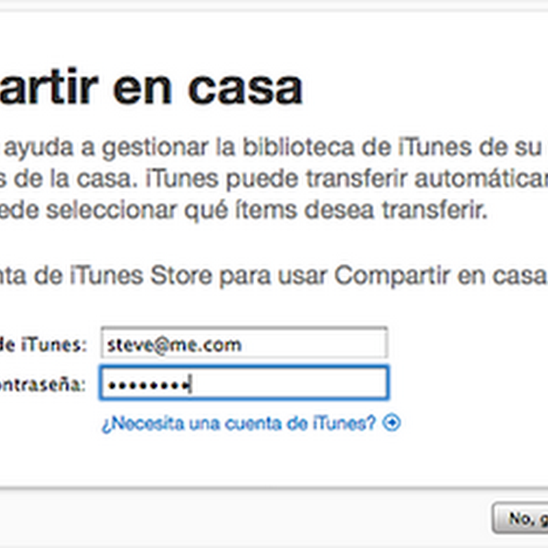 Compartir iTunes en varias Mac