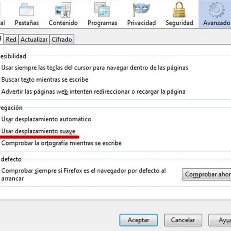 Mini-Tip: Usar desplazamiento suave en Firefox