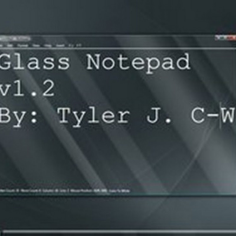 Glass Notepad, el bloc de notas aero