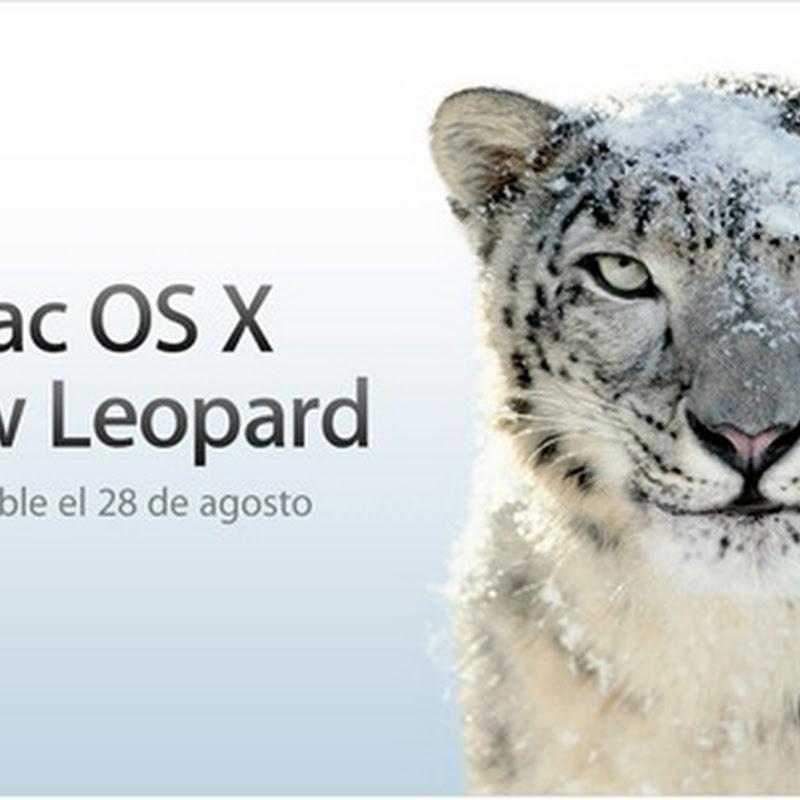 Mac OS X Snow Leopard en la AppStore