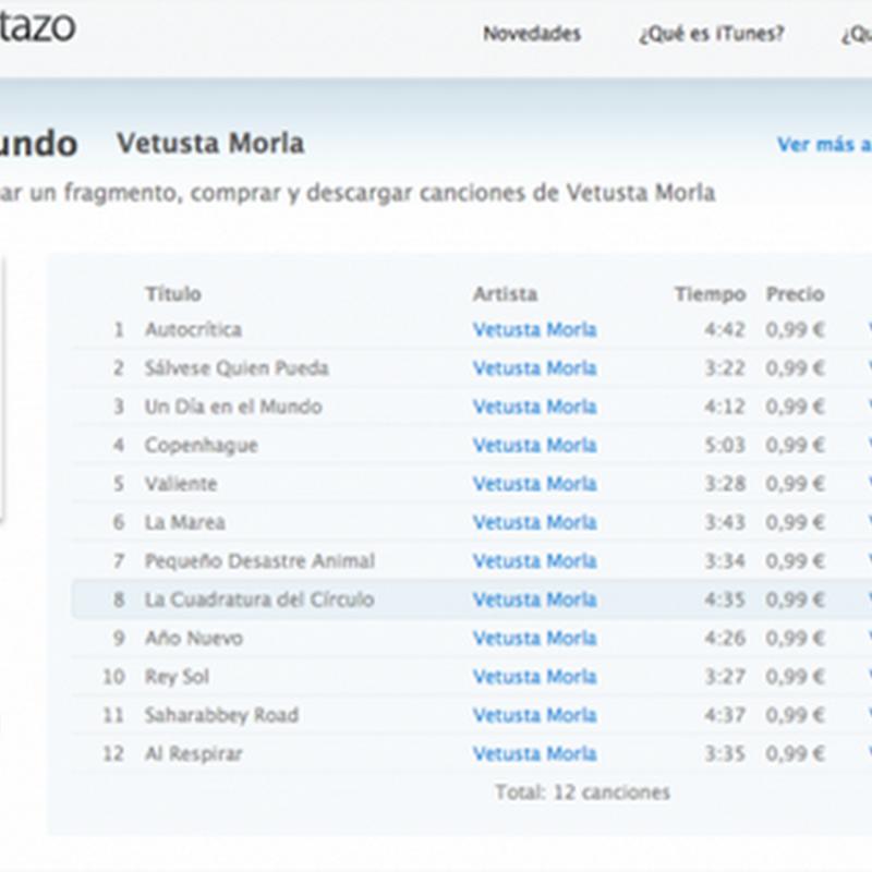 iTunes en un vistazo desde tu navegador