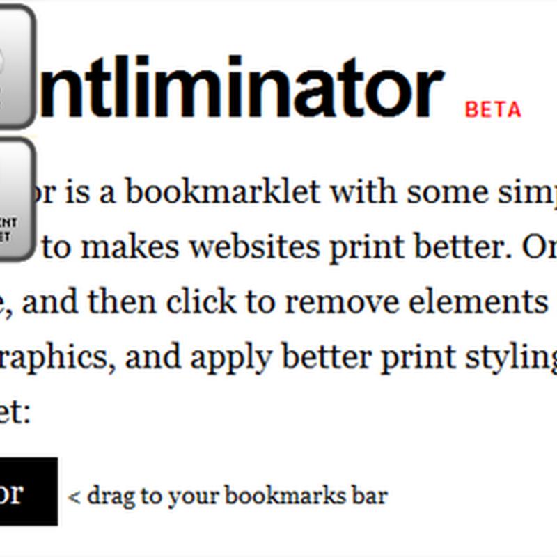 The Printlimitator, imprimiendo sólo lo necesario