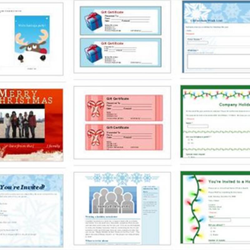 Plantillas navideñas para Google Docs