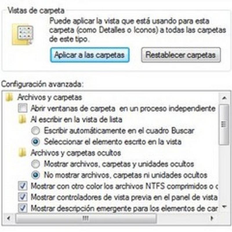 Mostrar archivos ocultos en Windows