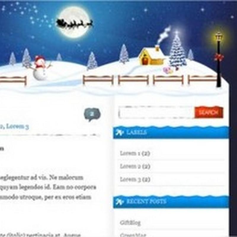 5 plantillas navideñas para Blogger
