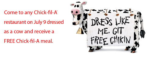photograph regarding Chick Fil a Cow Appreciation Day Printable named Cow Appreciation Working day! - Popsicle Site