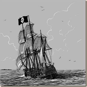 Barco Pirata dibujo 1