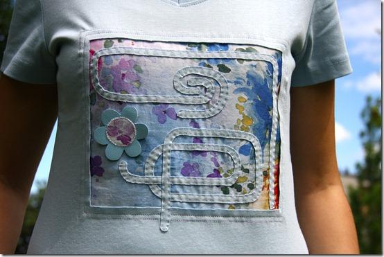Maglietta con inserto stoffa