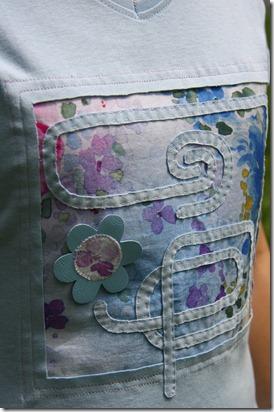 Maglietta con inserto stoffa-5