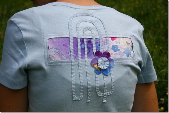 Maglietta con inserto stoffa-9