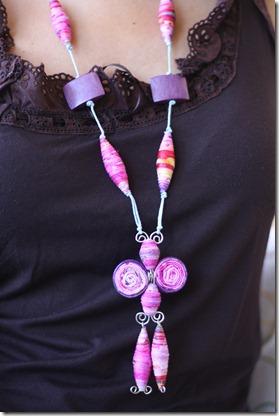 collana di stoffa fucsia-3