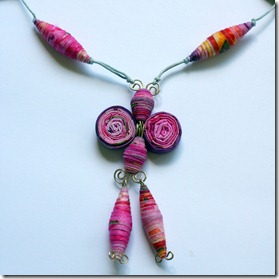 collana di stoffa fucsia-10