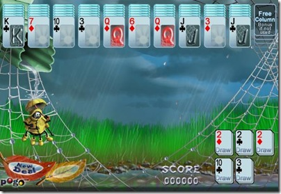 normal mode of Rainy Day Spider Solitaire