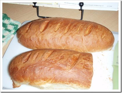 2 HUGE loaves of bread