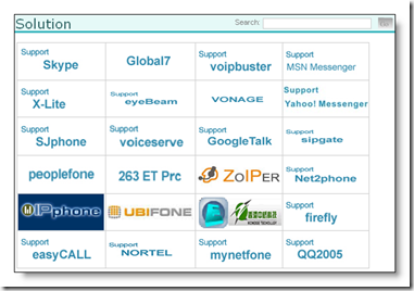 Yealink Easy VOIP 'Solutions page'