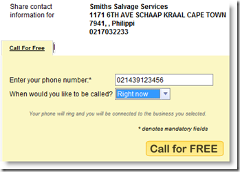 Telephone number search south africa