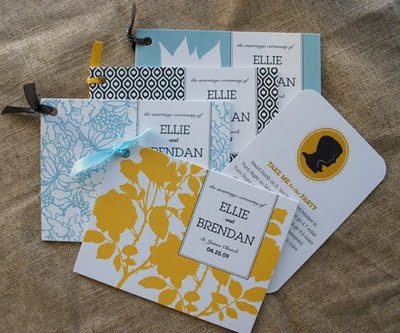 fabric wedding programs