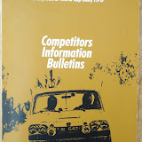 Competitors Information Bulletin featuring Triumph Mk1 UJB642J Picture courtesay of Dave Hiscocks