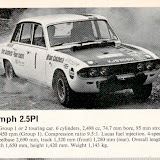 XJB305H from one of the Castrol Rally manuals I have, wearing No 1 I think this was probably taken on the 1971 Scottish Rally