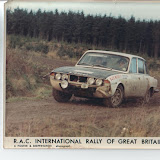 "XJB304H on the 1970 Picture taken after Brian's ""indiscretion"" with a gatepost, christening the brand new shell with a o/s/f dent. Picture courtesy Brian Englefield"